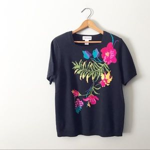 [Vintage] Alfred Dunner Hibiscus Sweater Shirt